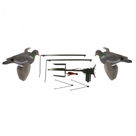 Pigeon Magnet with 2 X Air Pro Pigeon Decoys Rotary Machine Decoying Shooting